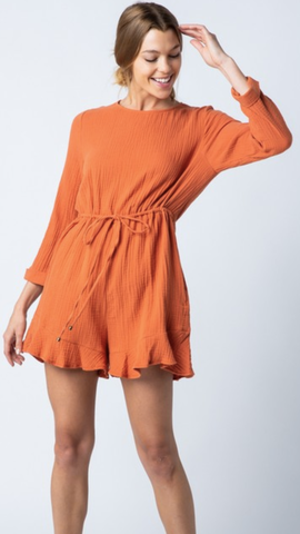 Lyndsay Orange Romper