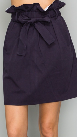 Lila Navy Skirt