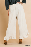 Deana Wide Leg Pant in Oatmeal