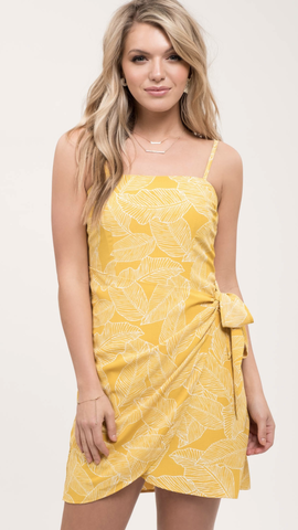 Susi Yellow Leaf Dress