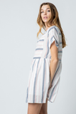 Marge Striped Babydoll Dress
