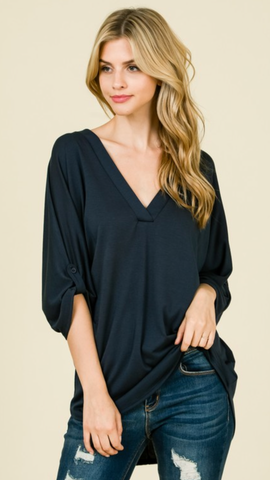 Melody Top in Navy