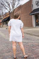 Samey Short Sleeve Dress in White