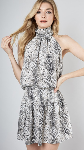 Janey Snake Print Dress