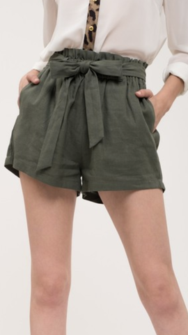 Leighann Olive Shorts