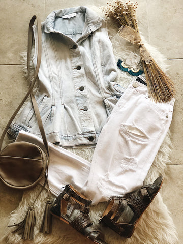 Fit & Flare Denim Vest