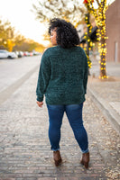 Charity Chenille Sweater in Hunter Green