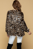 Velvet Heaven Leopard Top (XL-3X)