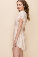 Lexy Ruffle Dress in Natural