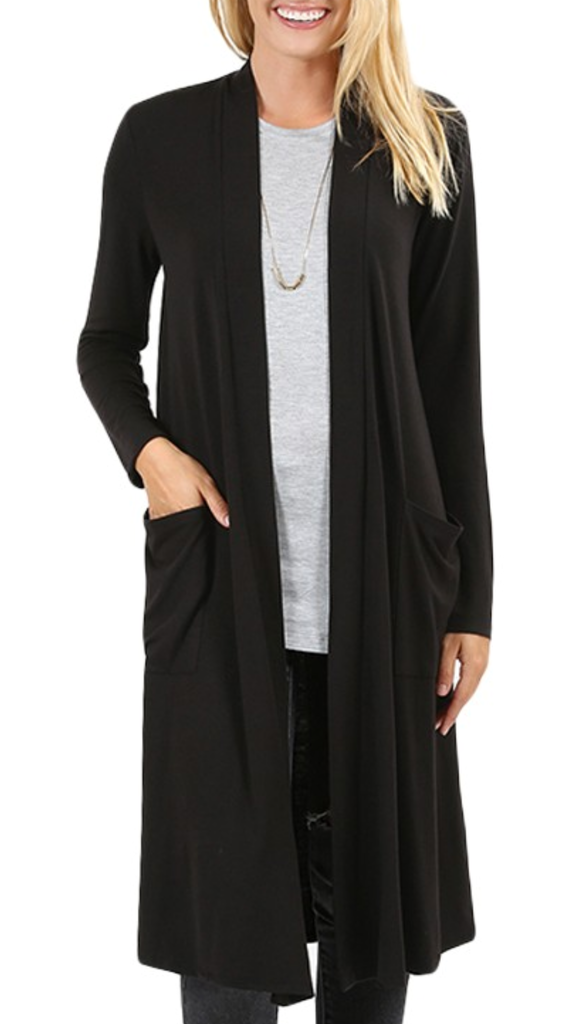 Say You Love Me Cardigan in Black