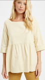 Jackey Babydoll Top in Taupe