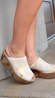 Yiona in Gold Calf Hair by Chocolat Blu
