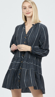Esma Navy Stripe Dress