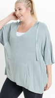 Dana Oversized Hoodie in Seafoam (Sizes XL-3X)