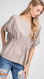 Reagan Taupe Top