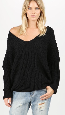 I Told You So Sweater in Black