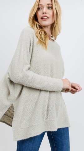 Lissy Long Sleeve Sweater in Grey