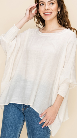 Myrtle Flowy Top in Off White