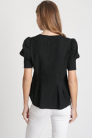 Christian Black V Neck Top