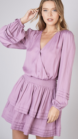 Anniston V-neck Dress in Lilac