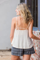 Gold Dot Camisole in Cream