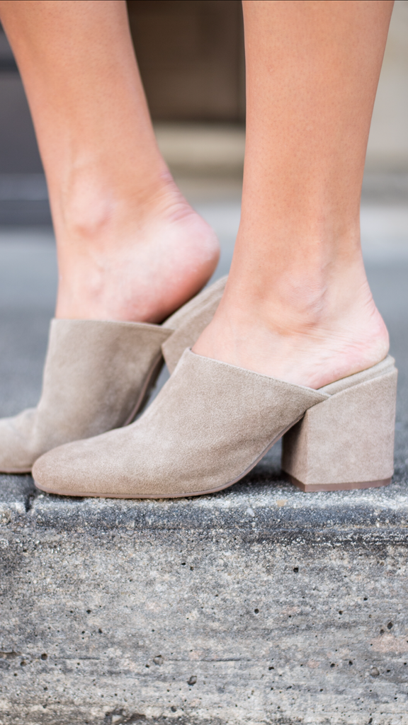 Julia in Taupe Suede by Chocolat Blu