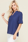 Zoe Top in Navy
