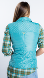 Moto Vest in Turquoise by Tyler Böe
