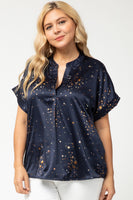 Navy Seeing Stars Top