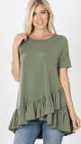 Monica Top in Light Olive (1X-3X)