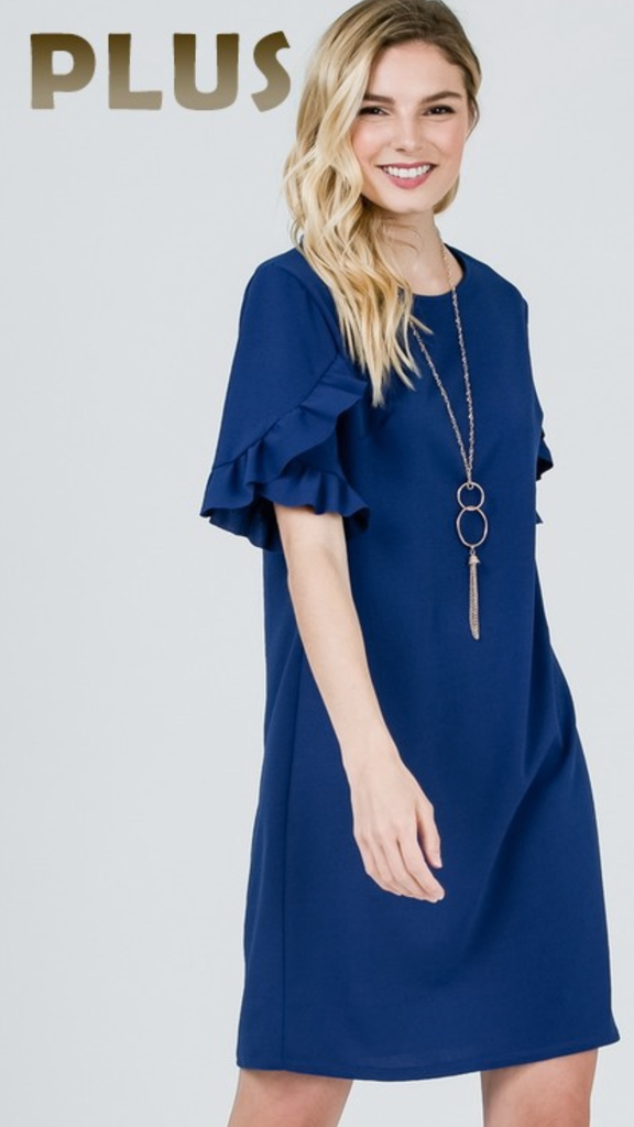 Suz Royal Ruffle Sleeve Dress