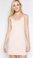 Mid Length Slip Dress - Black or Nude