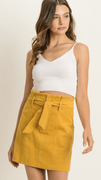 Nickie Cord Skirt in Mustard