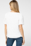 Anney White Textured Top