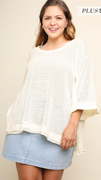 Maggie Oversized Top in Cream