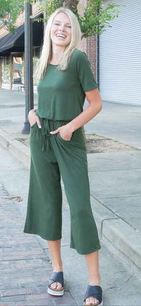 Cinzia Jumpsuit in Olive