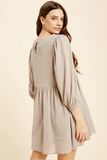 Morgan Textured Dress in Taupe
