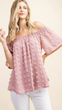 Giulia Smocked Top in Rose