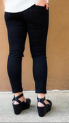 Knee Hole Black Skinnies