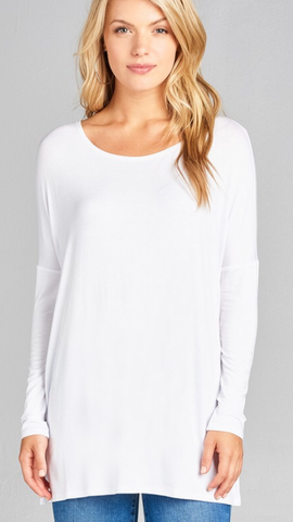 Makayla Long Sleeve Top in Off White