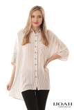 Blakely Stripes Top in Taupe