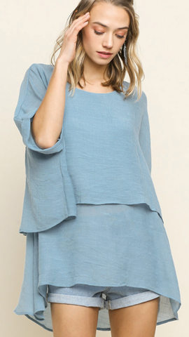 Kennedy Tunic in Light Blue