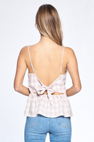 Alexia Back Detail Top in Blush