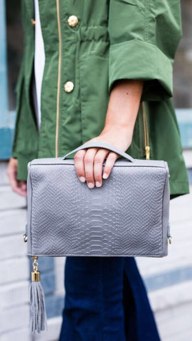 The Hailey Bag in Slate by GiGi New York