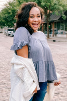 Naar Heather Grey Tiered Top
