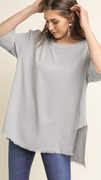 The Melanie Top in Gray