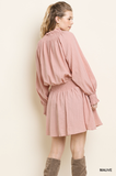 Becky Long Sleeve Mauve Dress
