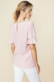 Jada Dot Top in Blush