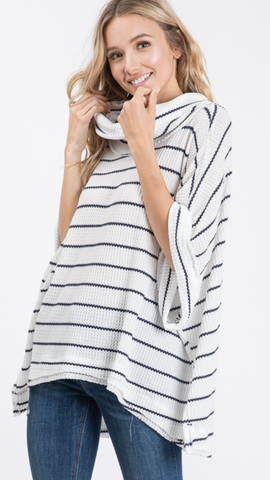 Shelly Stripes Poncho Style Top