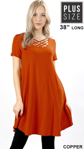 Alaina Rust Dress